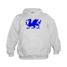 Blue Gargoyle Dragon Hoody