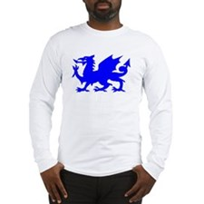 Blue Gargoyle Dragon Long Sleeve T-Shirt