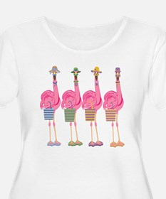 Snazzy Flamingos Plus Size T-Shirt