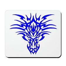 Blue Tattoo Dragon Face Mousepad
