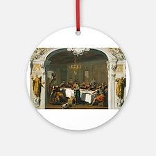 Sebastiano Ricci - The Last Supper Ornament (Round