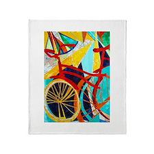 Biking #1 Throw Blanket