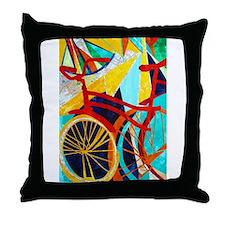 Biking #1 Throw Pillow