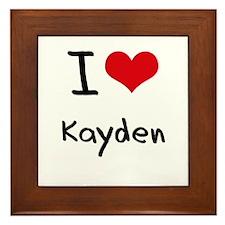 I Love Kayden Framed Tile