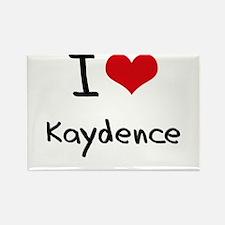 I Love Kaydence Rectangle Magnet