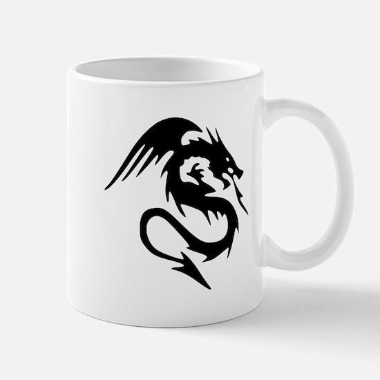 Black Dragon Serpent With Wings Small Mug