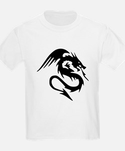 Black Dragon Serpent With Wings T-Shirt