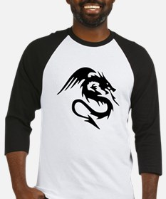 Black Dragon Serpent With Wings Baseball Jersey