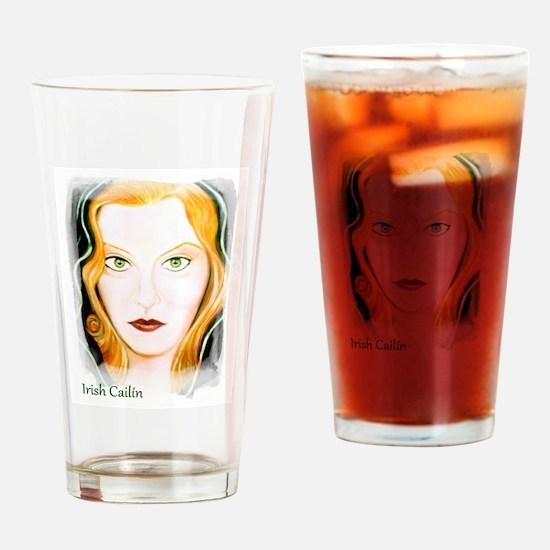 Irish Cailin Drinking Glass