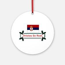 Serbia Hristos Se Rodi Ornament (Round)