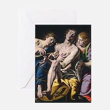 Tanzio da Varallo - Saint Sebastian Greeting Card