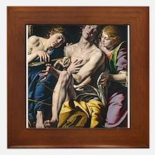 Tanzio da Varallo - Saint Sebastian Framed Tile