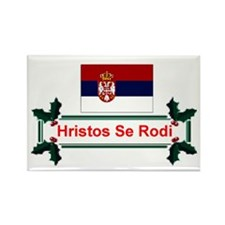 Serbia Hristos Se Rodi Rectangle Magnet