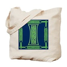 Irish Art and Celtic Letter I Tote Bag