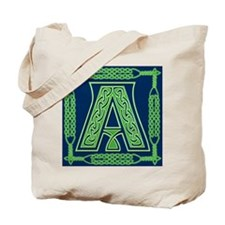 Irish Art and Celtic Letter A Tote Bag