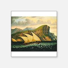 Thomas Chambers - Felucca off Gibraltar Sticker