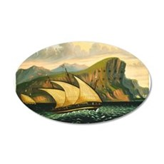 Thomas Chambers - Felucca off Gibraltar Wall Decal