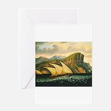 Thomas Chambers - Felucca off Gibraltar Greeting C