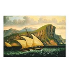 Thomas Chambers - Felucca off Gibraltar Postcards