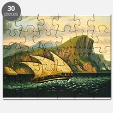 Thomas Chambers - Felucca off Gibraltar Puzzle