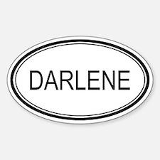 Darlene Oval Design Oval Decal