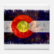 Colorado Wildfire Flag Tile Coaster
