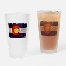Colorado Wildfire Flag Drinking Glass