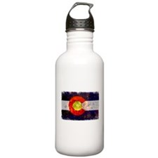 Colorado Wildfire Flag Sports Water Bottle