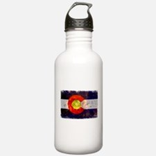 Colorado Wildfire Flag Water Bottle