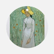 Vincent Van Gogh - Girl in White Ornament (Round)
