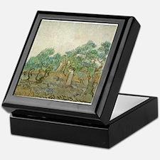 Vincent Van Gogh - The Olive Orchard Keepsake Box