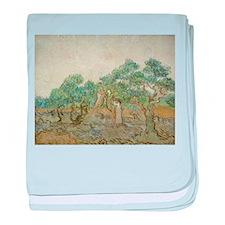 Vincent Van Gogh - The Olive Orchard baby blanket