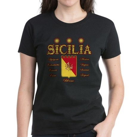Sicilia Trinacria Women's Dark T-Shirt