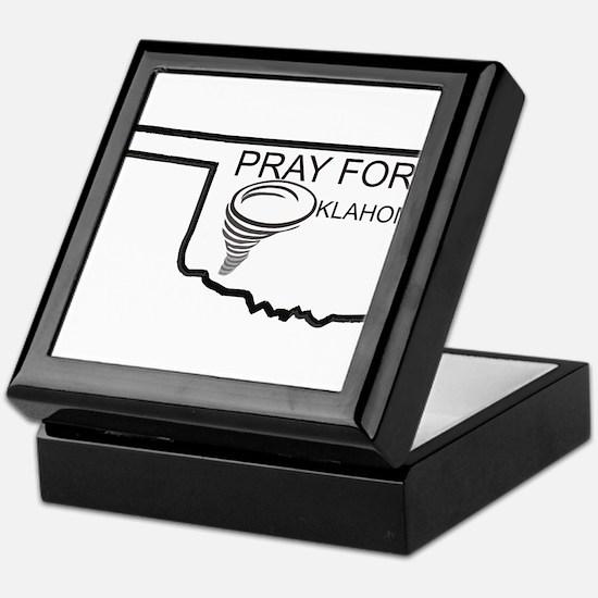 Pray For Oklahoma Keepsake Box