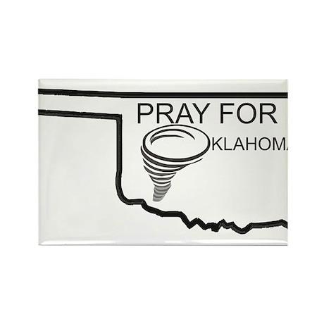 Pray For Oklahoma Rectangle Magnet