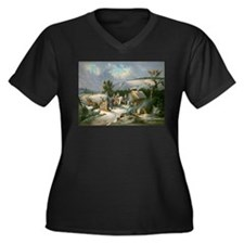 Washington at Valley Forge Plus Size T-Shirt