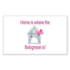 Home is where the Bolognese is Sticker (Rectangula