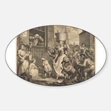 William Hogarth - The Enraged Musician Decal