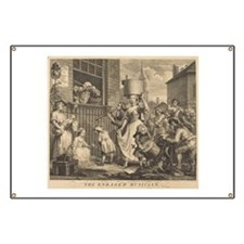 William Hogarth - The Enraged Musician Banner