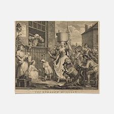 William Hogarth - The Enraged Musician Throw Blank