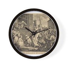 William Hogarth - The Enraged Musician Wall Clock