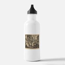 William Hogarth - The Enraged Musician Water Bottl