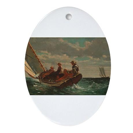 Winslow Homer - Breezing Up (A Fair Wind) Ornament