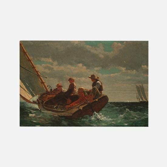 Winslow Homer - Breezing Up (A Fair Wind) Rectangl
