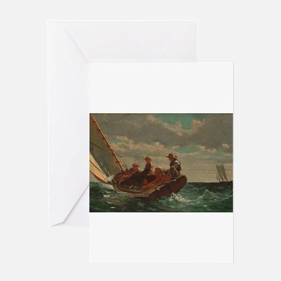 Winslow Homer - Breezing Up (A Fair Wind) Greeting