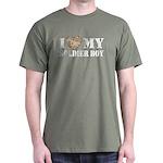 I Love My Soldier Boy Dark T-Shirt