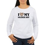 I Love My Soldier Boy Women's Long Sleeve T-Shirt