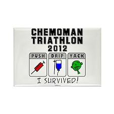 2012 Chemoman Triathlon Rectangle Magnet