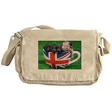 Tea Cup Piggies Messenger Bag