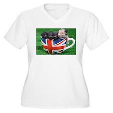 Tea Cup Piggies Plus Size T-Shirt